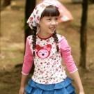 印花棉質萊卡上衣 / 普普熊 / 1M2020
