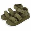 採用可調節鬆緊的搭帶 以高密度且柔軟的織帶設計成簡約時尚外觀 微拱鞋床為涼鞋提供極佳的緩衝性