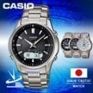 .日本版 .鈦金屬錶帶/防水50米 .無機玻璃鏡面/太陽能電力 .電波接收功能/無機玻璃鏡面