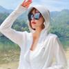 罩衫-冰絲涼感立領防曬連帽外套【XCO00124】 升級版輕薄涼感穿搭 寬帽檐&高領設計