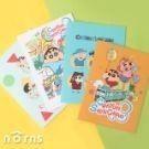 -封面特選霧膜加工材質,不易磨損 -附透明封套,妥善保護筆記本,攜帶便利 -充滿童趣氛圍的小新圖案