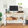 ★現代簡約,一桌多用 ★木頭紋路,圓角設計 ★強化鋼管,穩固承重