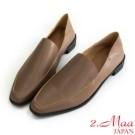 舒適樂福鞋設計 可踩跟2WAY 一鞋多穿 二層牛皮 舒適好穿100% 乳膠加厚軟墊 減壓一天疲勞感