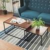 ★工業風茶几桌 ★簡單的線條設計 ★可當客廳桌也可當邊桌,依照喜好自由擺放