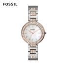 FOSSIL 官方旗艦店 機芯 2 年保固 復古圓弧狀錶耳設計 華麗復古鑲鑽設計 型號:BQ3337