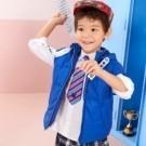 帽子可拆寬版落肩風衣舖棉背心 / 普普熊 / 1M2102