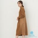 ■Natural Label■  秋冬溫暖感微高領針織洋裝 層次特色,穿出優雅女人味