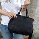 韓國設計質感防潑水迷彩純色可擴充二用方包 手提包 斜背包