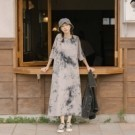 一件式長洋裝 懶人必備日常穿著救星 個性的灰黑配色渲染 可搭配腰帶多點腰身造型感