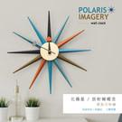 ◆ 時分針、鐘面採鋁材質 ◆ 12根光芒為松木材質 ◆ 質量輕盈、無磁性 ◆ 靜音掃秒機芯