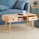 ‧橡膠木堅固耐用 ‧可恣意調整抽屜的位置與方向 ‧附二抽屜設置,輕鬆收納物品