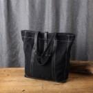出門購物響應環保~ 帆布+真皮提把~輕便耐用又環保  環保也可以很有質感~~✿