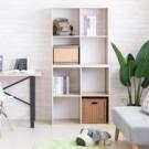 ●MIT製造品質保證 ●可堆疊使用,也可拆開使用 ●四格大容量收納空間 ●可當收納櫃、書櫃、隔間櫃