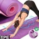 雙色防滑紋路(TPE材質) 具柔軟高彈、耐用穩定佳 送收納綁繩!!方便攜帶