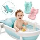 嬰兒洗澡沐浴床網兜 寶寶洗澡神器浴盆防滑墊浴架