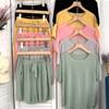 兩件式居家服-冰絲涼感休閒短褲睡衣套裝【XCO35113】 舒適自在鬆緊腰設計 短袖 /短褲 兩件組