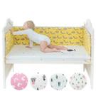 Muslintree嬰兒床防撞床圍 寶寶加厚防摔床墊