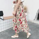 花朵印花造型、氣質高腰長裙