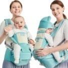 KINGROL/DIGUMI可收納功能前抱式腰凳可斜躺嬰兒背帶揹帶