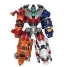 變形機器人鋼鐵防衛隊 可變形成動物與機器人 還可多機組合成巨大機器人喔