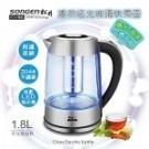 ●食品級304#不銹鋼濾網 ●晶透炫藍LED指示燈 ●可拆卸濾茶網、茶水分離 ●耐熱防爆透明玻璃