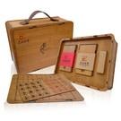 創意行李箱造型茶葉禮盒,搭配象棋競賽功能,好喝又好玩