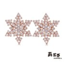 鑽石重量:86顆鑽約0.28克拉(雙邊加總) 鑽石顏色/淨度:F/VS2 貴金屬材質:14K玫瑰金