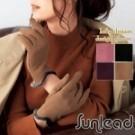 日系優雅流線手套版型 防寒防風暖暖刷毛層 方便使用智慧型手機/平板