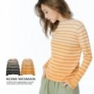 手感舒服柔軟的小立領毛衣 細緻的花紗配條柔和優雅 厚薄適中又百搭實穿
