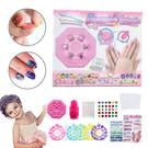 彩繪指甲貼 DIY兒童美甲玩具 夢幻美甲貼紙套裝假指甲貼