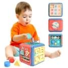嬰幼兒玩具六面盒寶寶拍拍鼓學習六面屋手拍鼓