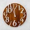 ◆ 簍空數字設計 ◆ 木質搭配金屬質感 ◆ 靜音掃秒機芯