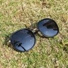 2is JulD  太陽眼鏡 大框圓型│黑色 抗UV400