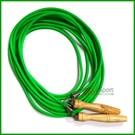 木質手柄質感佳 實心塑膠繩增加甩繩重量增加甩力 另可客製化訂製多人跳繩歡迎來電