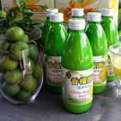 100%台灣香檬 天然 健康 安全 無添加 每顆香檬都新鮮健康,採用熟成香檬榨成的100%原汁.