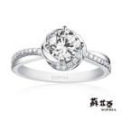 鑽石重量:主鑽1.00克拉 配鑽約0.16克拉 鑽石顏色/淨度:主鑽F/VVS1 配鑽F/VS2