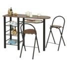 ●工業風設計  ●一桌+二椅組 ●輕鬆收納,日式居家 ●適合所有空間,輕巧摺疊隨心所欲。