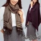 時尚經典緹花織紋面料 手感細緻柔軟、結構紮實、懸垂性 寬版加長圍巾披肩設計