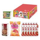 花雕雞1箱(中元版)+青蔥蘇打*1+蔓越莓沙淇瑪*1+清酒粕玄米菓*1+紅麴蕃茄汁*6