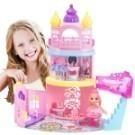 公主城堡手提玩具禮盒 扮家家酒 芭比城堡玩具