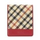 【限時加贈手帕】 多卡收納設計 頂級質感皮革 品牌經典格紋