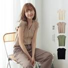 VOL128 柔軟針織連袖罩衫 視覺修飾感V領造型 黑、綠、混卡、杏~4色