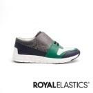 彈力鞋帶設計 好穿脫 頂級苯染皮 質地柔軟細緻 彈力橡膠大底