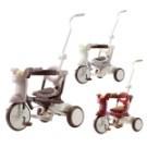 ◆貼心加長推桿長度,讓爸爸也能控制車子不彎腰 ◆腳踏板突起防滑設計,小腳不滑落