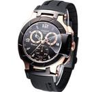 ◆原廠公司貨 ◆安全折疊式錶扣 ◆具備計時碼表功能 ◆放大日期顯示功能 ◆不鏽鋼錶殼、橡膠錶帶