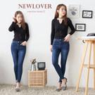 窄管褲NEWLOVER【161-6472】修身版型鬆緊腰窄管褲S-XL