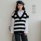 0112 黑白條紋永遠不退流行!襯衫配背心真的是今年的必買set了啦!