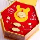Disney 迪士尼金飾 小熊維尼彌月套組禮盒 5件組送禮超大方 彌月金飾禮盒滿月送禮首選