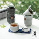 壺亦杯 杯亦壺 立體豎紋 象徵圓滿 胡桃木把 隔熱防燙 器形如單反鏡頭  攜行袋 完美收納