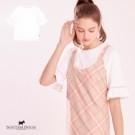 彈性棉感材質 , 舒適好穿搭  , 袖口荷葉設計增添甜美的氣質
